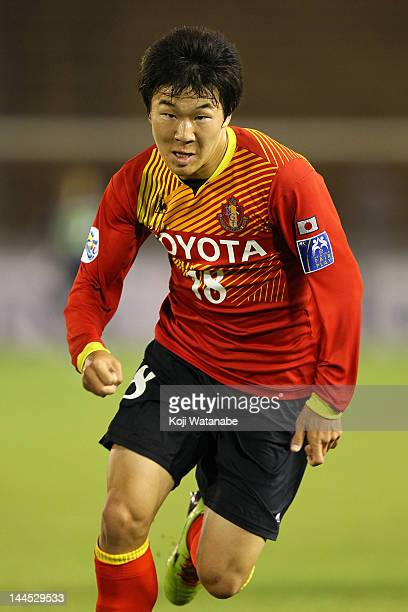 Kensuke Nagai of Nagoya Grampus in action during the AFC Asian Champions League Group G match between Nagoya Grampus and Central Coast Mariners at...