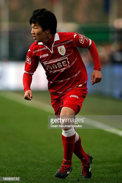 Kensuke Nagai of Standard in action during the Jupiler League match between Royal Standard de Liege and RSC Anderlecht at Stade Maurice Dufrasne on...