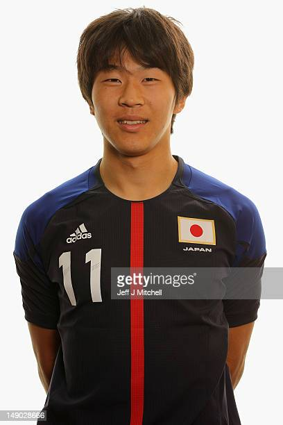 Kensuke Nagai poses during a Japan Men's Official Olympic Football Team portrait session on July 22 2012 in Glasgow Scotland