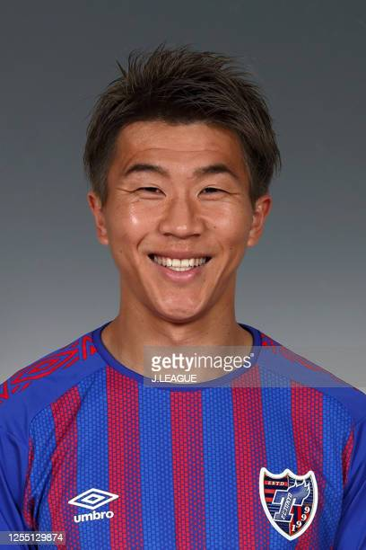 Kensuke Nagai poses for photographs during the FC Tokyo portrait session on January 8, 2020 in Japan.