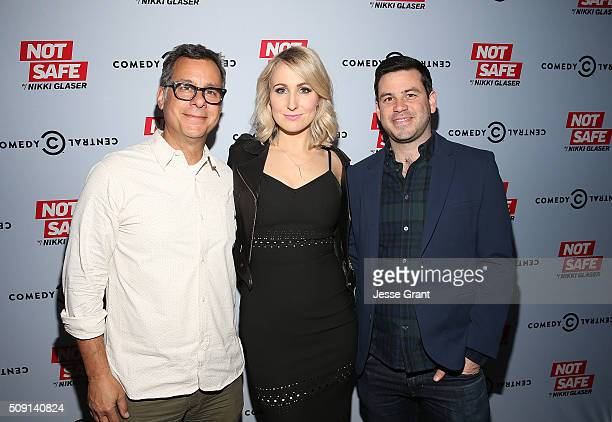 Kent Alterman President Content Development Original Programming of Comedy Central comedian Nikki Glaser and executive producer Chris Convy attend...