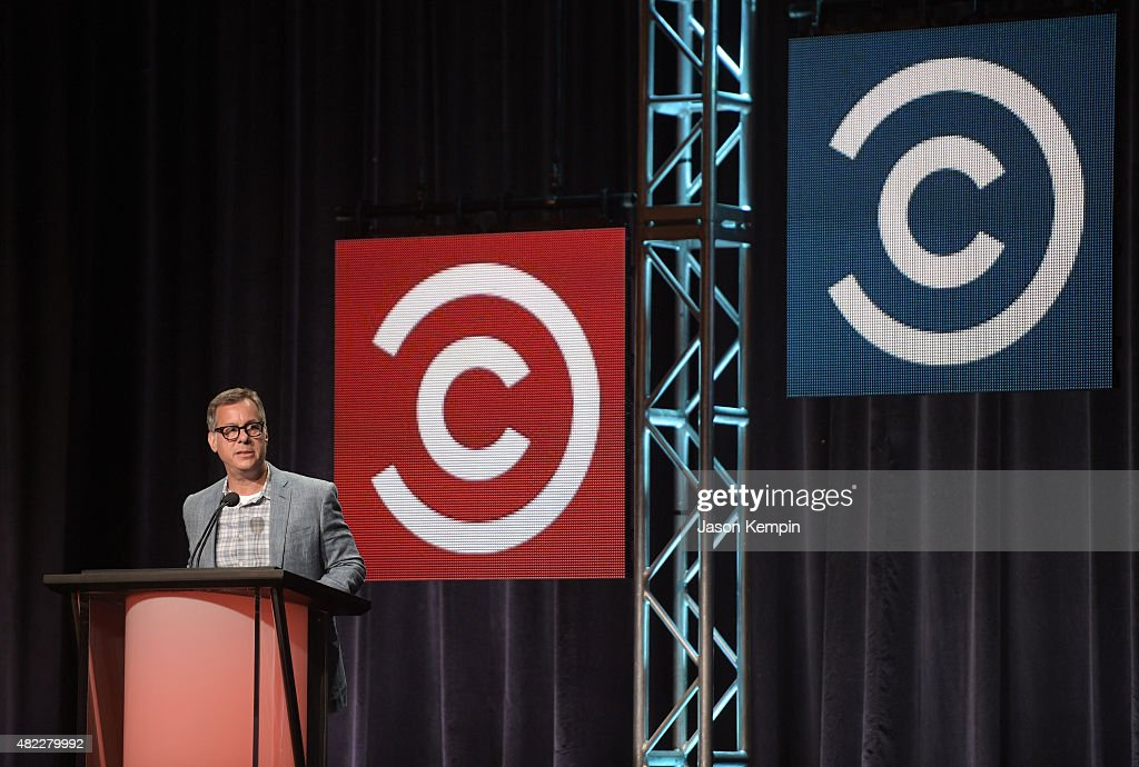 Kent Alterman, President, Content Development & Original Programming, Comedy Central, speaks onstage during 'The Daily Show with Trevor Noah' panel at the Viacom TCA Presentation at The Beverly Hilton Hotel on July 29, 2015 in Beverly Hills, California.