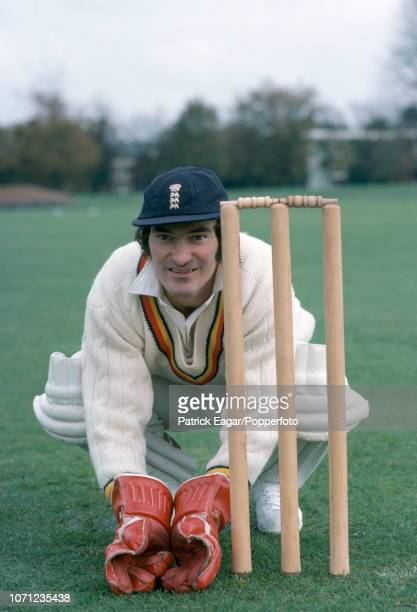 Kent and England wicketkeeper Alan Knott poses for photographs during a photoshoot before leaving for MCC's winter tour of India Sri Lanka and...