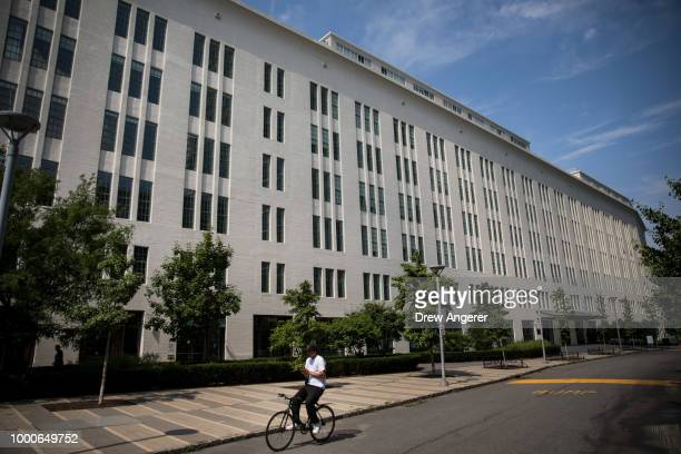 Kent Avenue a building owned by Kushner Companies stands in the Williamsburg neighborhood July 17 2018 in the Brooklyn borough of New York City On...