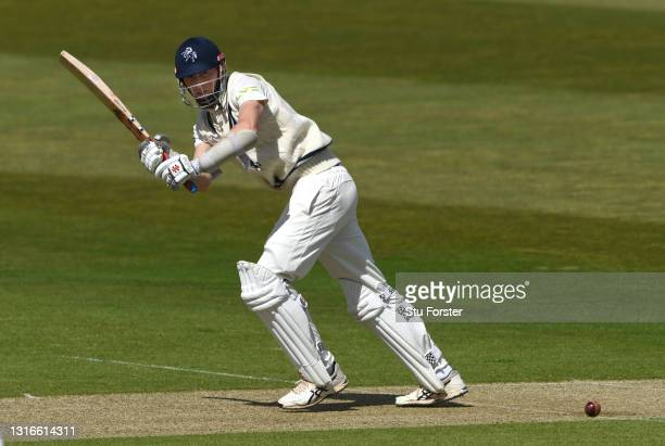 Kent batsman Zac Crawley picks up some runs during day one of the LV= Insurance County Championship match between Yorkshire and Kent at Emerald...
