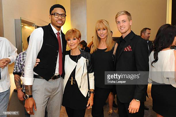 Kent Bazemore Beverly Zeiss Erin Eckert and Evan Newton attend the David Yurman Launch of The Meteorite Collection With Kent Bazemore at Westfield...