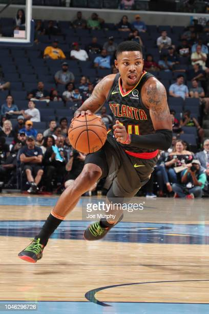 Kent Bazemore of the Atlanta Hawks handles the ball against the Memphis Grizzlies on October 5 2018 at FedExForum in Memphis Tennessee NOTE TO USER...