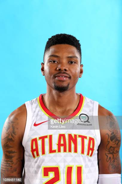 Kent Bazemore of the Atlanta Hawks poses for a head shot during the Atlanta Hawks Media Day on September 24 2018 at the Emory Sports Medicine Complex...