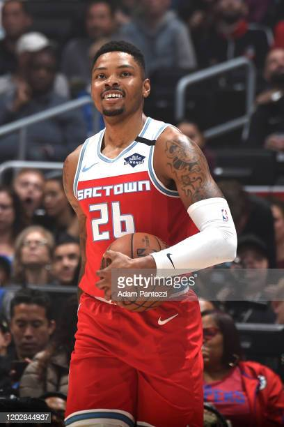 Kent Bazemore of the Sacramento Kings smiles during the game against the LA Clippers on February 22 2020 at STAPLES Center in Los Angeles California...