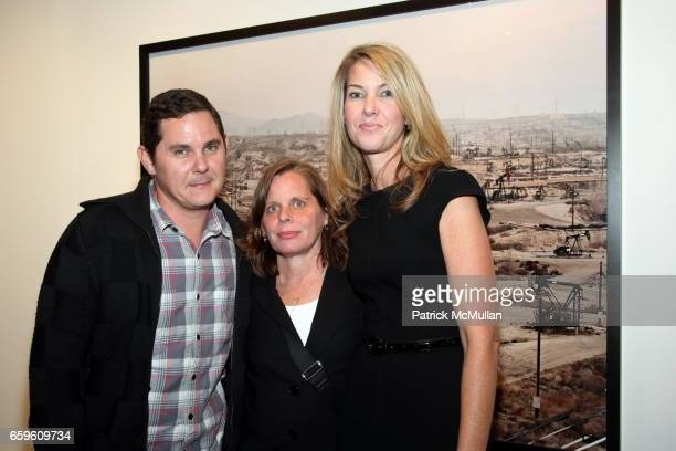 Kent Belden Tracy Stewart and Sarah Hasted attend EDWARD BURTYNSKY Artist Reception at HASTED HUNT KRAEUTLER on October 6 2009 in New York City
