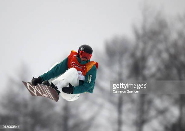 Kent Callister of Australia competes during the Snowboard Men's Halfpipe Final on day five of the PyeongChang 2018 Winter Olympics at Phoenix Snow...