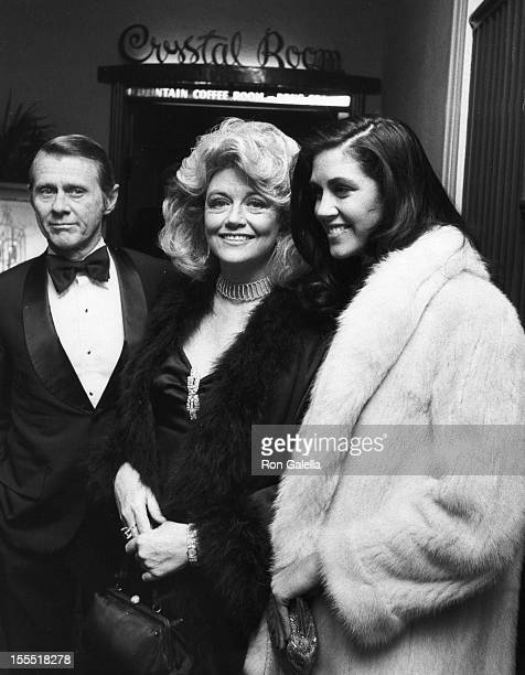 Kent Curtis actress Dorothy Malone and daughter Mimi Bergerac attend the birthday party for Mavis Nabors on February 6 1983 at the Beverly Hills...