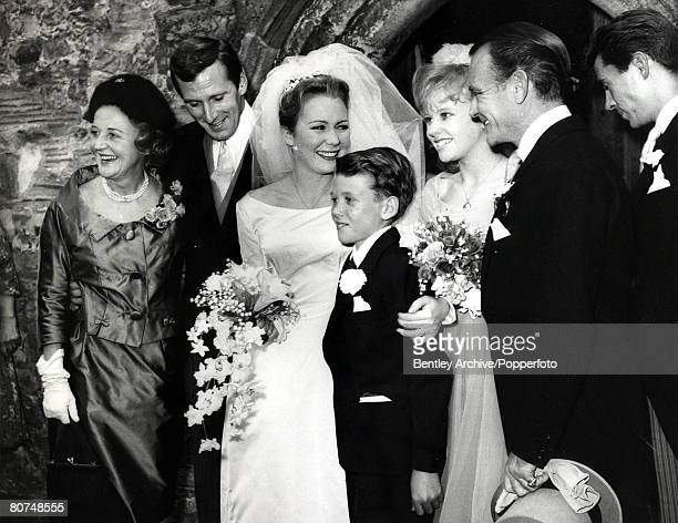 Kent England 14th October 1961 Nineteen Year old actress Juliet Mills daughter of actor John Mills marries American actor Russell Alquist at a little...