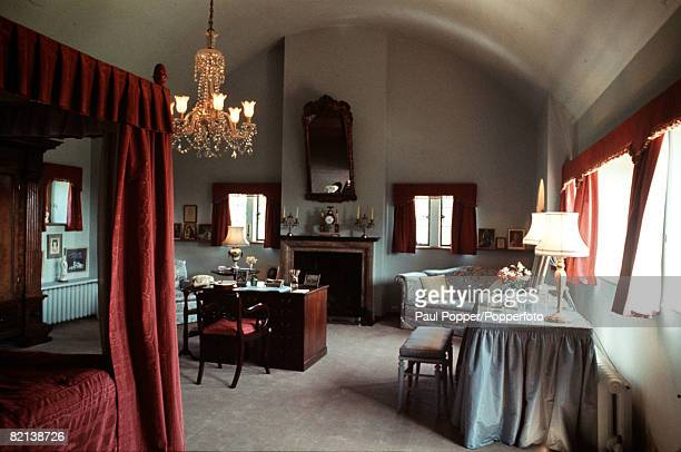 Kent England Circa 1970's The bedroom of Lady Churchill wife of former British Prime Minister Winston Churchill at their Chartwell home