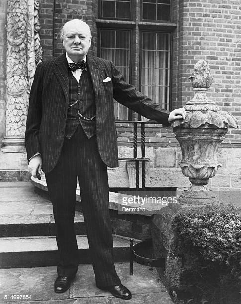 Kent, England: Winston Churchill at his country home in Chartwell, Westerhave, Kent, England, as he assumed leadership of Conservative Party's...