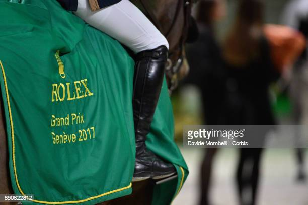 Kent FARRINGTON of United States of America riding Gazelle during the prize giving cerimony Grand Prix Rolex International Jumping Competition 1m 60...