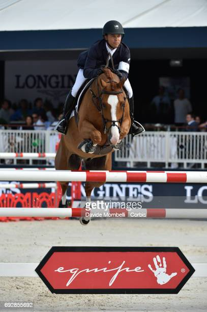 Kent Farrington of USA riding Creedance during the Longines Grand Prix Athina Onassis Horse Show on June 3 2017 in St Tropez France