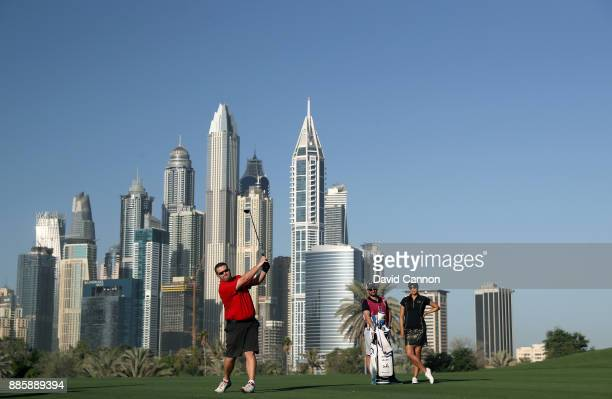 Kent Gray the editor ogf Middle East Golf Digest in action during the proam for the 2017 Dubai Ladies Classic on the Majlis Course at The Emirates...