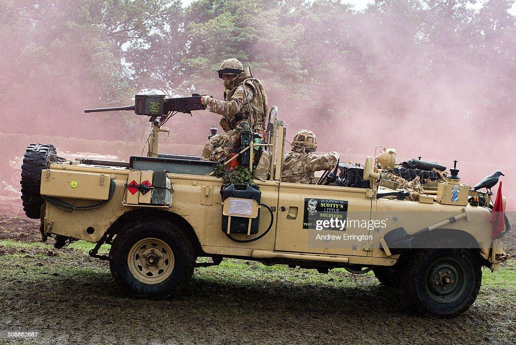 UK, Kent, Headcorn, battle re-enactment of modern day