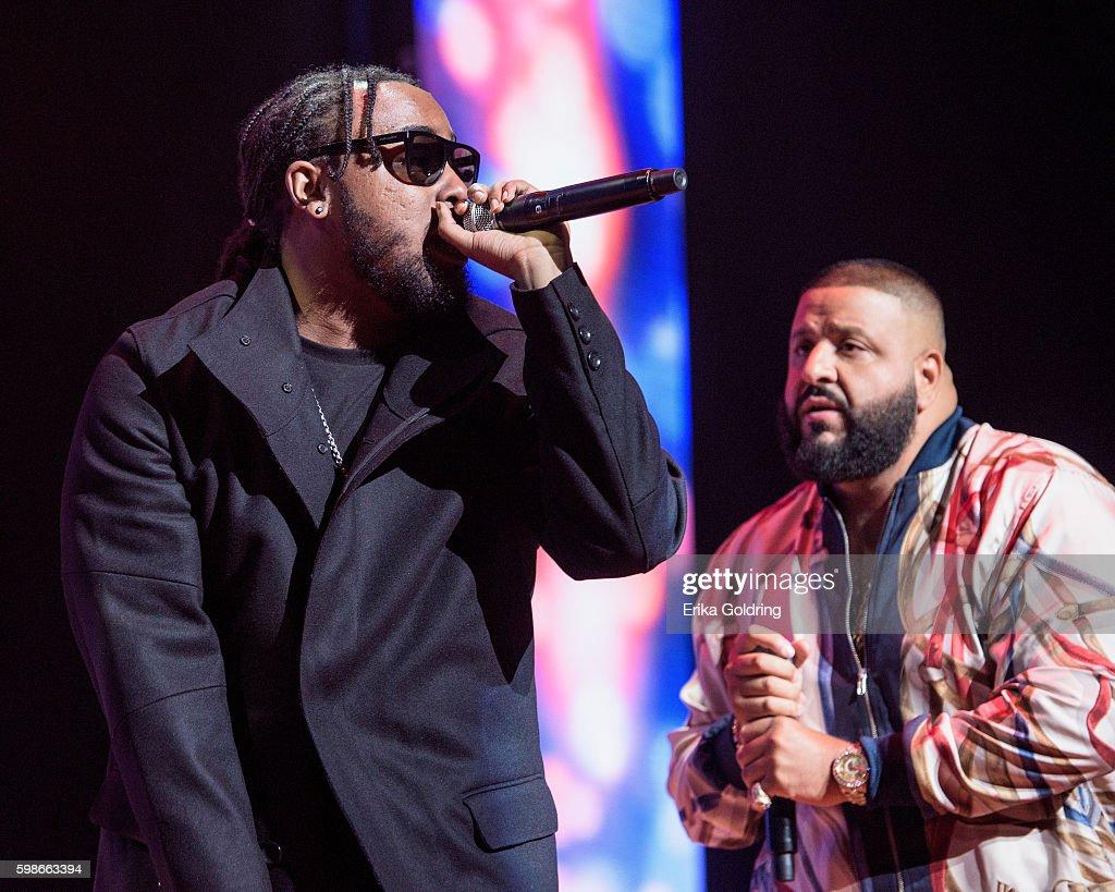 Kent Jones and DJ Khaled perform at the 2016 BMI R&B/Hip-Hop Awards at Woodruff Arts Center on September 1, 2016 in Atlanta, Georgia.