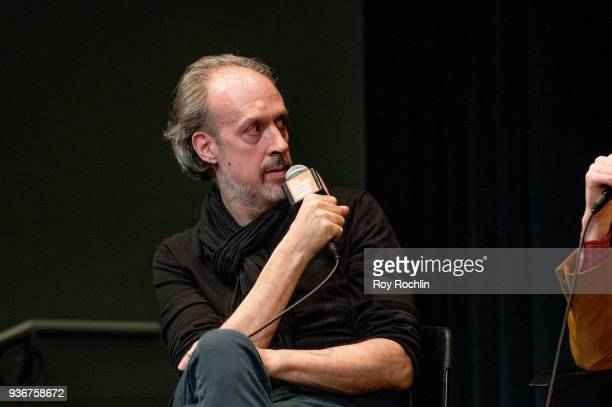 Kent Jones discusses 'Isle Of Dogs' during the New York Screening QA at The Film Society of Lincoln Center Walter Reade Theatre on March 22 2018 in...