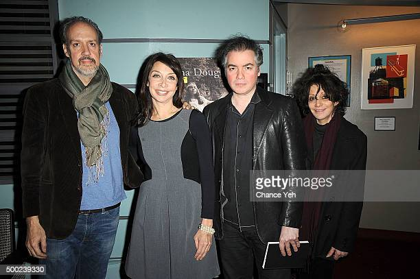 Kent Jones Illeana Douglas Kevin Corrigan and Amy Heckerling attend an afternoon with Illeana Douglas at Film Forum on December 6 2015 in New York...