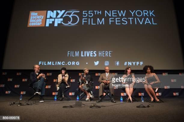 Kent Jones Nancy Buirski Cynthia Erivo Robert Corbitt Danielle McGuire and Crystal Feimster take part in a QA following a screening of 'The Rape Of...
