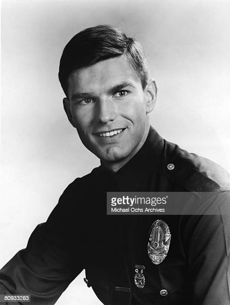 Kent McCord costar of the hit 1960's and1970's TV show Adam 12 in a promotional shot from the first season in 1968 in Los Angeles California