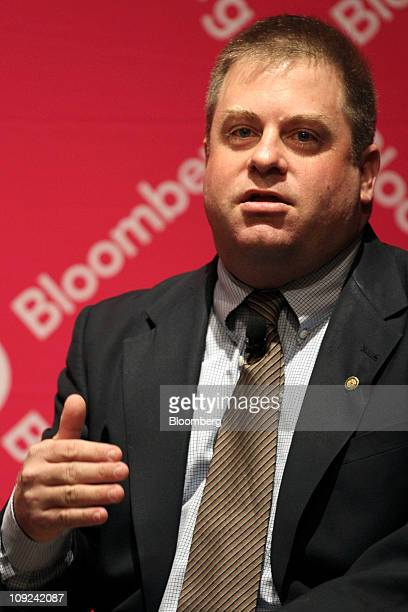 Kent Morris chief investment officer at the office of the city treasurer for the city of San Diego speaks during the Bloomberg Link Pensions and...