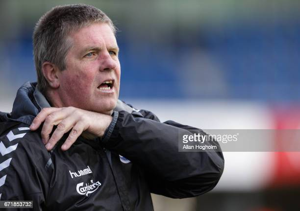 Kent Nielsen head coach of OB during the Danish Alka Superliga match between Randers FC and OB Odense at BioNutria Park on April 23 2017 in Randers...