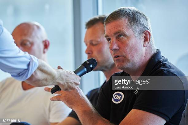 Kent Nielsen head coach of OB Odense during the Danish Alka Superliga media event at Brondby Stadion on August 8 2017 in Brondby Denmark