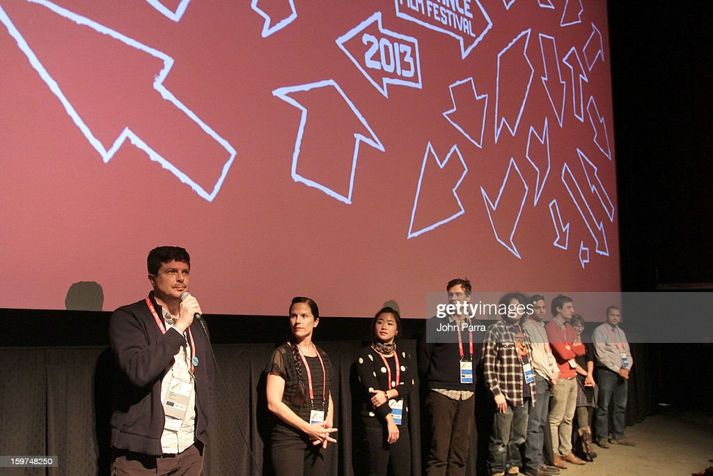 Kent Osborne speaks onstage with cast and crew at Adventure Time at Sundance at Redstone Cinema 1 at Kimball Junction on January 19, 2013 in Park City, Utah. (Photo by John Parra/WireImage) 23186_001_JP_0084.JPG