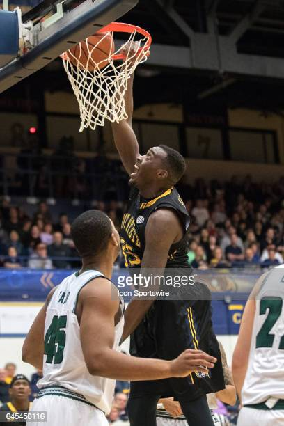 Kent State Golden Flashes F Jimmy Hall scores with a dunk during the second half of the men's college basketball game between the Ohio Bobcats and...