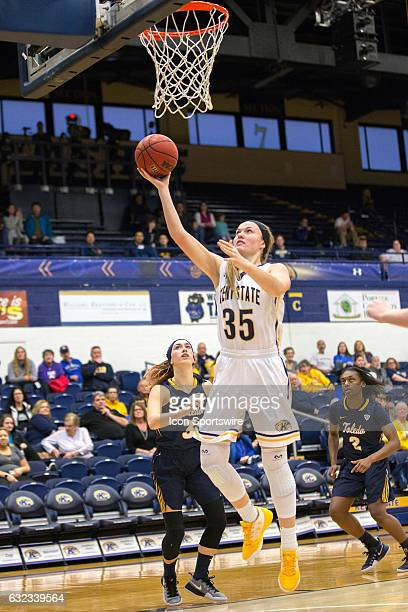 Kent State Golden Flashes F Jordan Korinek scores with a layup during the third quarter of the NCAA Women's Basketball game between the Toledo...