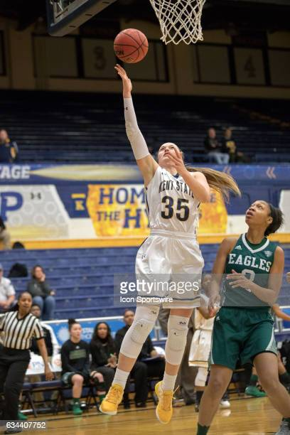Kent State Golden Flashes F Jordan Korinek scores with a layup during the first quarter of the women's college basketball game between the Eastern...