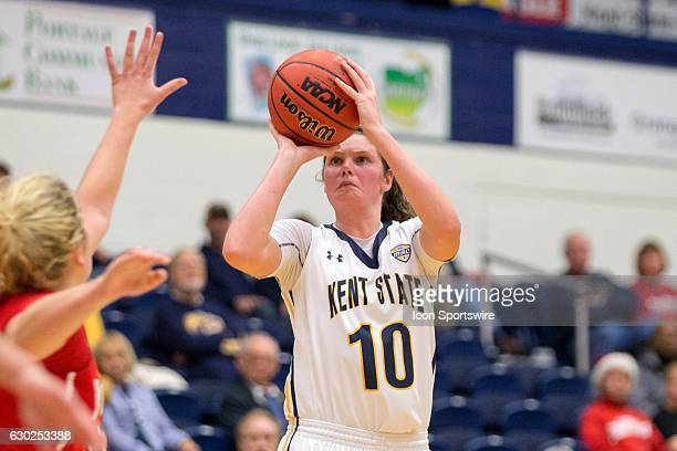 Kent State Golden Flashes F McKenna Stephens shoots during the third quarter of the NCAA Women's Basketball game between the Youngstown State...