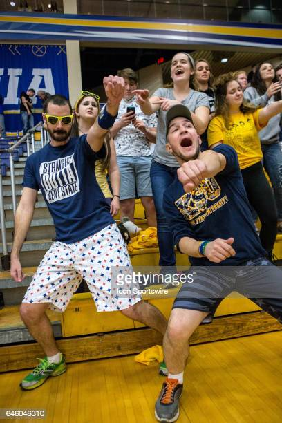 Kent State Golden Flashes fans in the stands during the second half of the college basketball game between the Ohio Bobcats and Kent State Golden...