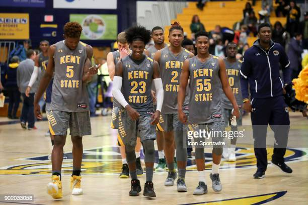 Kent State Golden Flashes forward Danny Pippen Kent State Golden Flashes guard Jaylin Walker Kent State Golden Flashes forward BJ Duling and Kent...