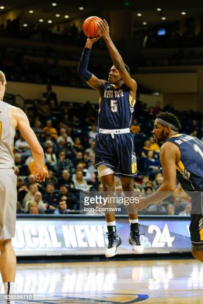 Kent State Golden Flashes forward Danny Pippen shoots a jump shot during a regular season basketball game between the Kent State Golden Flashes and...