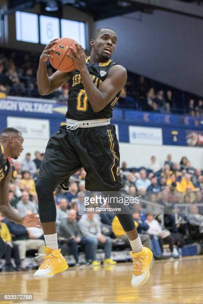 Kent State Golden Flashes G Jalen Avery grabs a rebound during the first half of the men's college basketball game between the Central Michigan...