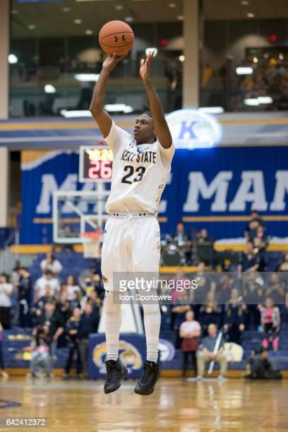 Kent State Golden Flashes G Jaylin Walker shoots during the second half of the men's college basketball game between the Miami RedHawks and Kent...
