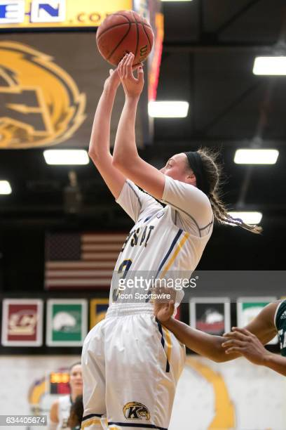 Kent State Golden Flashes G Larissa Lurken shoots during the second quarter of the women's college basketball game between the Eastern Michigan...
