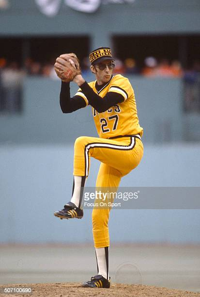 Kent Tekulve of the Pittsburgh Pirates pitches during a Major League Baseball game circa 1979 at Three Rivers Stadium in Pittsburgh Pennsylvania...