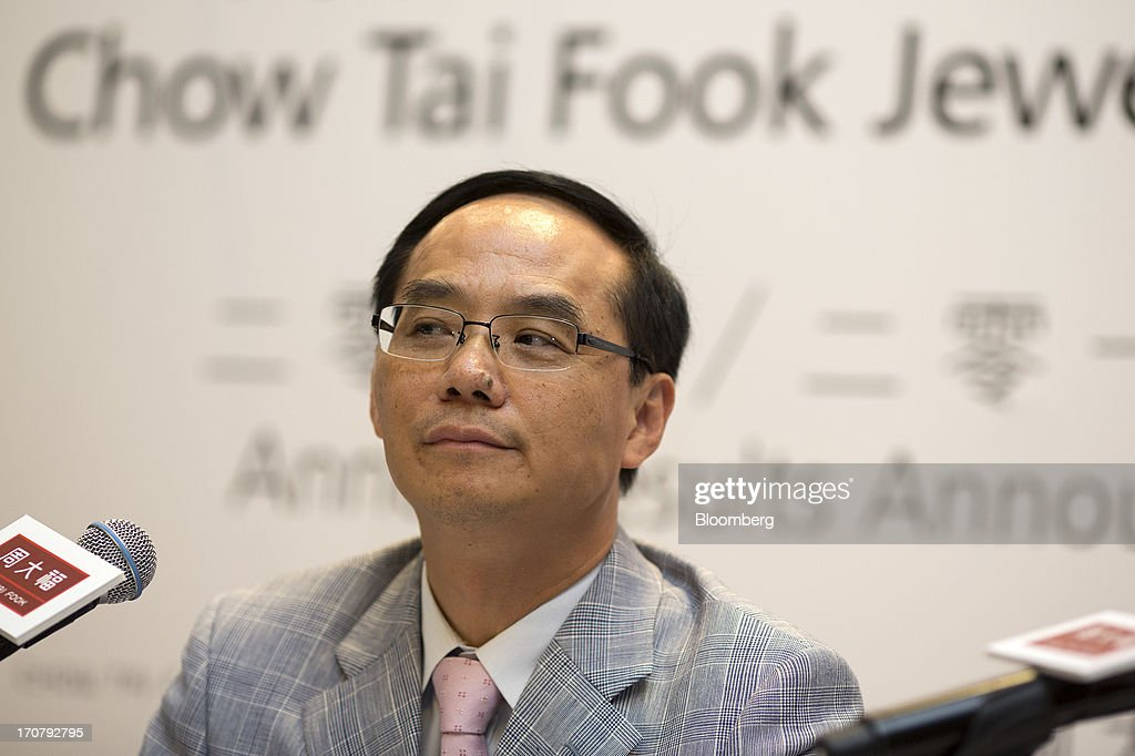 Kent Wong, managing director of Chow Tai Fook Jewellery Group Ltd., attends the company's annual results news conference in Hong Kong, China, on Monday, June 18, 2013. Chow Tai Fook, the worlds largest listed jewelry chain, reported a 13 percent decline in profit on higher costs and weaker consumer spending. Photographer: Jerome Favre/Bloomberg via Getty Images