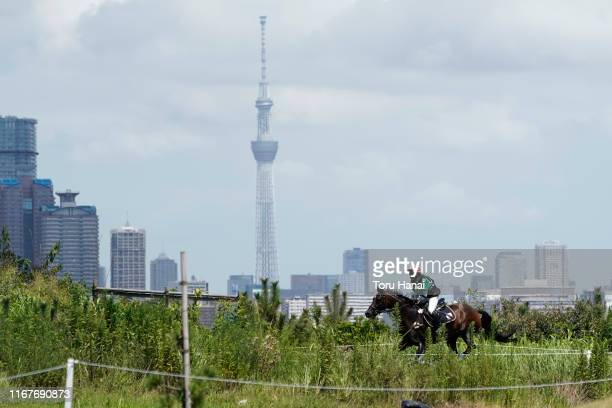 Kenta Hiranaga of Japan riding Koko Doro competes in the Cross-Country during day two of the Equestrian Tokyo 2020 Test Event at Sea Forest...