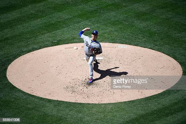 Kenta Maeda of the Los Angeles Dodgers pitches during the fifth inning of a baseball game against the San Diego Padres at PETCO Park on May 22 2016...