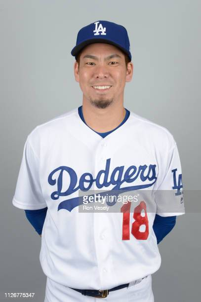 Kenta Maeda of the Los Angeles Dodgers poses during Photo Day on Thursday February 20 2019 at Camelback Ranch in Glendale Arizona