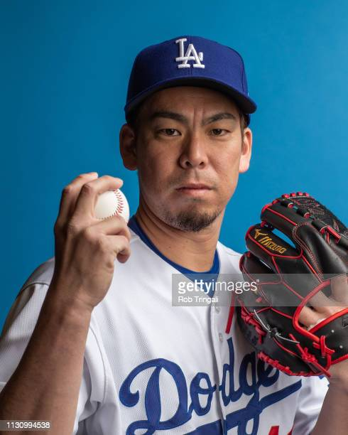 Kenta Maeda of the Los Angeles Dodgers poses for a portrait during photo day at Camelback Ranch on February 20 2019 in Glendale Arizona ter caption...