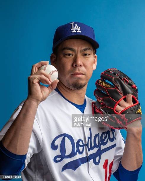 Kenta Maeda of the Los Angeles Dodgers poses for a portrait during photo day at Camelback Ranch on February 20 2019 in Glendale Arizona