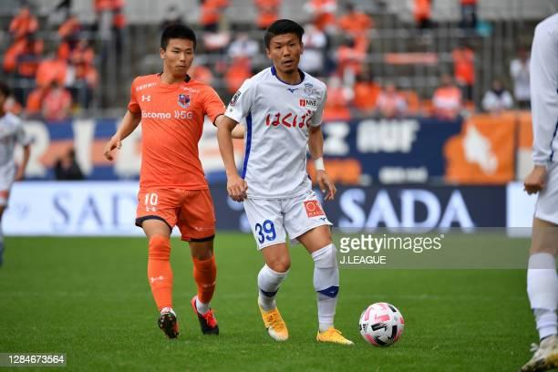 Kenta UCHIDA of Ventforet Kofu in action during the J.League Meiji Yasuda J2 match between Omiya Ardija and Ventforet Kofu at NACK5 Stadium Omiya on...